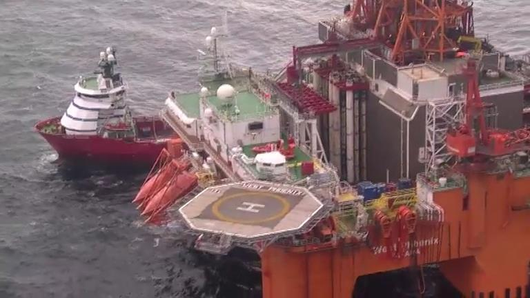 April 21 & 22, 2012 - Resources mobilized for the well intervention operations on the Elgin G4 well